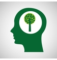 concept environment tree silhouette head vector image