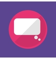 Chat bubble social media vector image