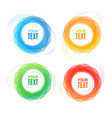 colorful round abstract banners shape set vector image
