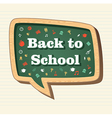 Education back to school icons in social media vector image