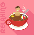 Coffee Relax vector image