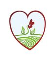 Valentines day card beautiful heart vector image