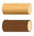 Two logs vector image