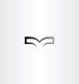 black sign book logo vector image