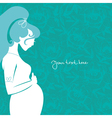 silhouette of pregnant woman vector image