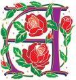 rosette letter A vector image
