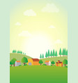 countryhome vector image