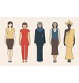 Different nationalities women vector image