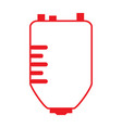 isolated blood bag vector image
