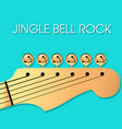 jingle bell rock christmas background vector image
