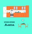 kitchen interior vector image