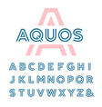 Linear font alphabet with latin letters vector image