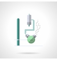 Medical laboratory glass flat color icon vector image