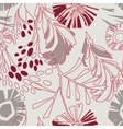 retro floral pattern with flowers seamlessly vector image