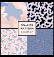 stylish abstract seamless patterns collection vector image