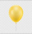 yellow realistic balloon vector image