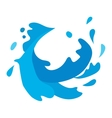 Water splashes set vector image