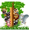 Animal friends vector image