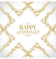 happy anniversary gatsby vector image