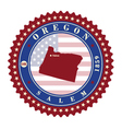 Label sticker cards of State Oregon USA vector image