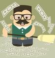 Money broom vector image vector image