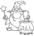 Cartoon wizards casting spells vector image