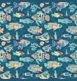 magic sea life pattern vector image vector image