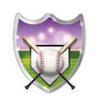 Baseball Badge Emblem vector image