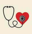stetoskop i srce resize vector image vector image