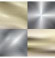 Polished metal steel texture background vector image vector image