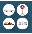 Airport icon design vector image