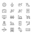 Airport Icons Line vector image
