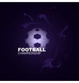Background Football vector image