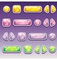 Big set of colorful cartoon buttons of different vector image