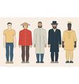 Different nationalities men vector image