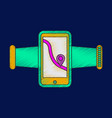 flat shading style icon smartphone for running vector image