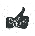 Like symbol better choice hand vector image