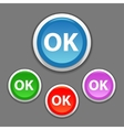 ok button colofrul icon for web design vector image