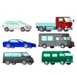 Orthogonal Business Cars Set vector image