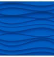 Seamless Wave Pattern Curved Shapes Background vector image