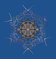 Snowflake icon isolated nice snowflakes on vector image
