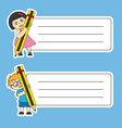 tags labels school vector image