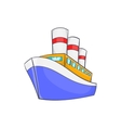 Ship icon in cartoon style vector image