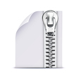 zip file icon vector image vector image