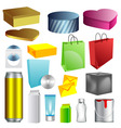Blank packaging templates vector image