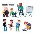 Funny characters of typical office staff set vector image