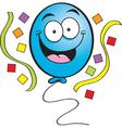 Cartoon Happy Balloon vector image