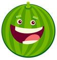 cartoon watermelon fruit character vector image