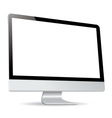 computer display side isolated on white background vector image