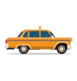 graphic yellow retro Taxi cab on white vector image